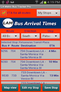LA Metro Bus Tracker Pro Screenshot 3