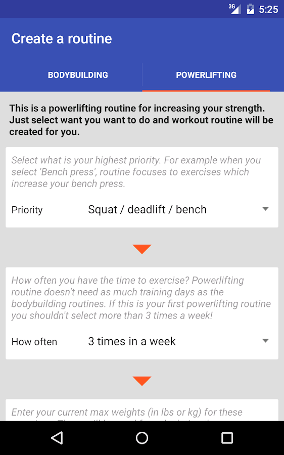 Workout Routine- screenshot