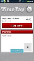 Screenshot of TimeTap NFC for Harvest