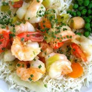 King Prawn and Scallop in Ginger Butter.