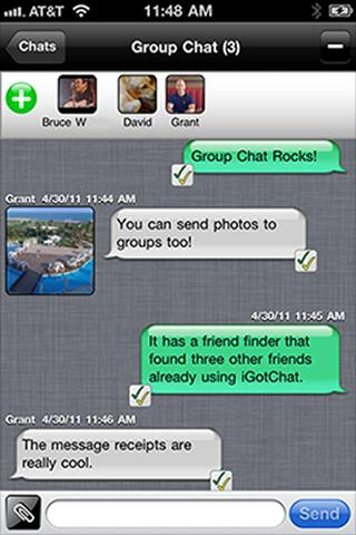iGotChat Messenger / Free Text - screenshot