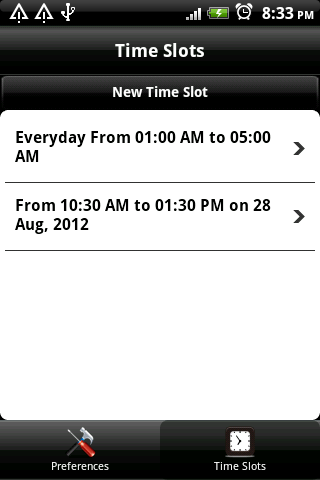 Schedule Silent Mode - screenshot