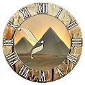 Egyptian Pyramid clock logo