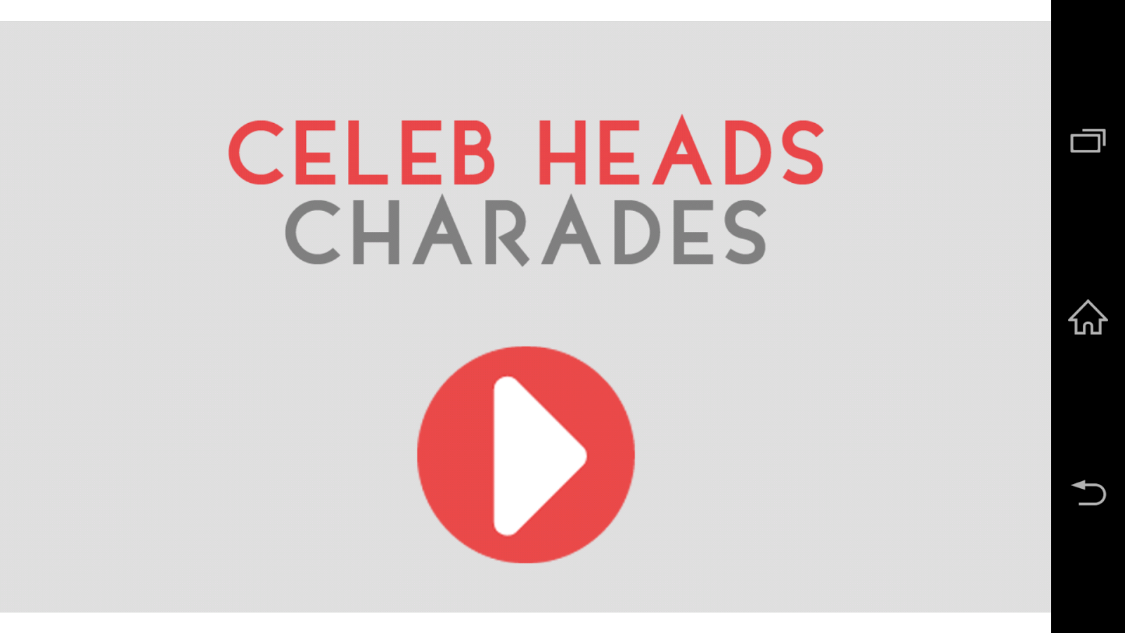 GOLD Heads Up Charades! - screenshot
