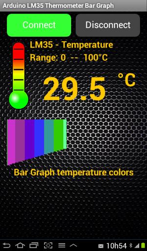 Arduino BT LM35 Temp Bar Graph