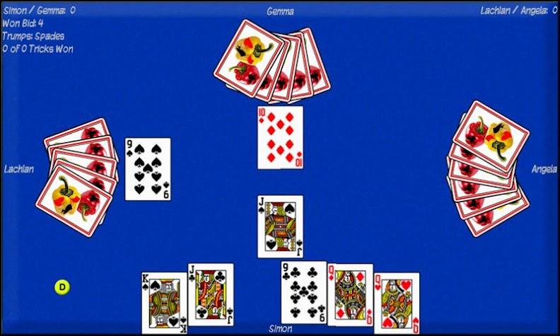 Pepper (Bid Euchre) Screenshot