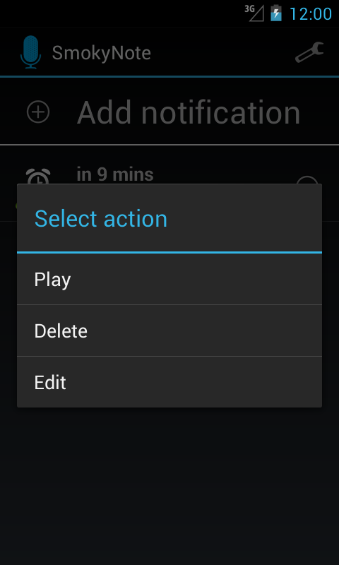 SmokyNote - Voice reminder - screenshot