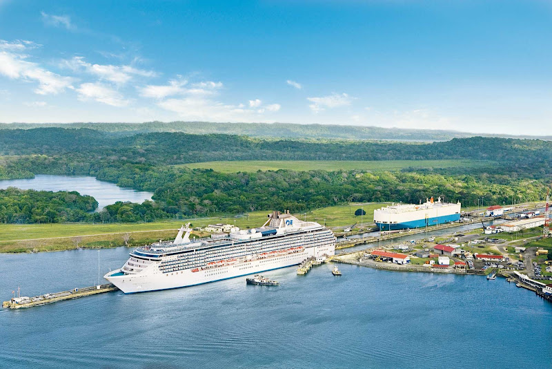 Coral Princess is one two Princess ships specially built to sail through the Panama Canal to Alaska.