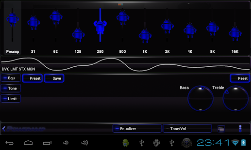 poweramp skin android blue Screenshot