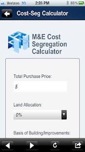 M&E Cost Segregation- screenshot thumbnail