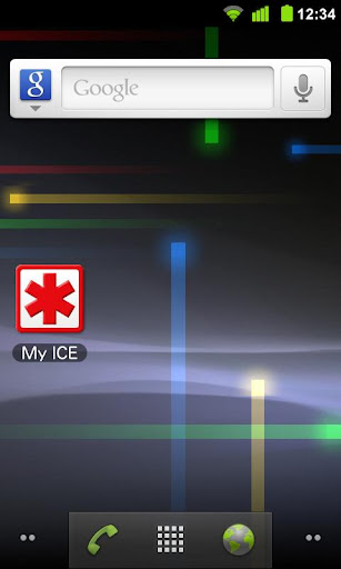 My ICE - CARD DISPLAY WIDGET