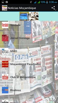 Notícias Moçambique - screenshot