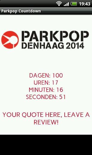 Parkpop 2014 Countdown
