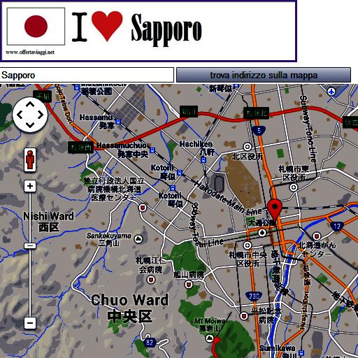 Sapporo map