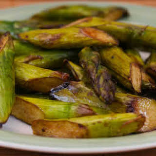 Slow Roasted Asparagus.