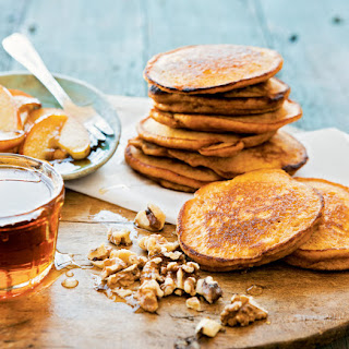 Sweet Potato Pancakes with Walnuts