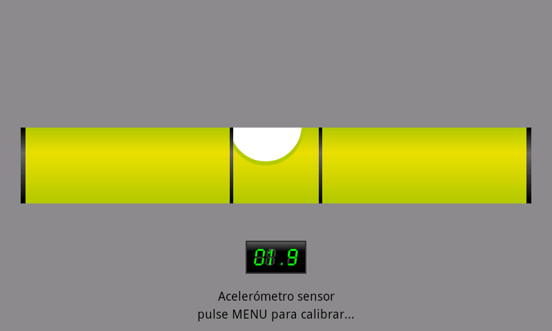Spirit Level with bubble - screenshot
