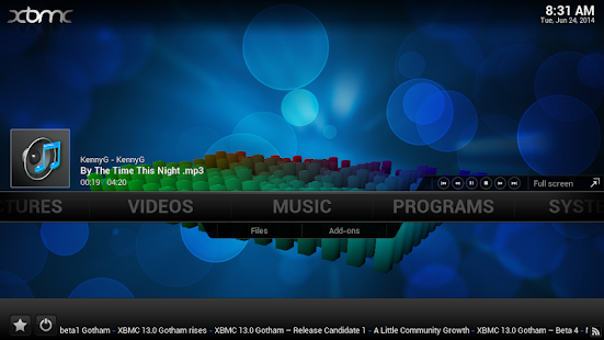 iXBMC Media Center Player
