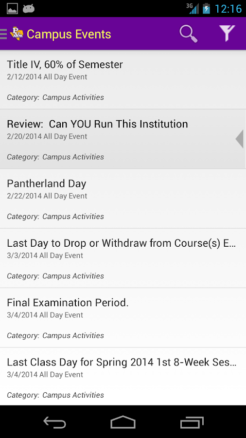PVAMU Mobile- screenshot