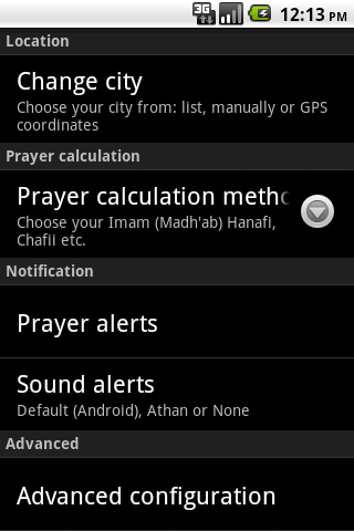 Muslim Salat Widget - screenshot
