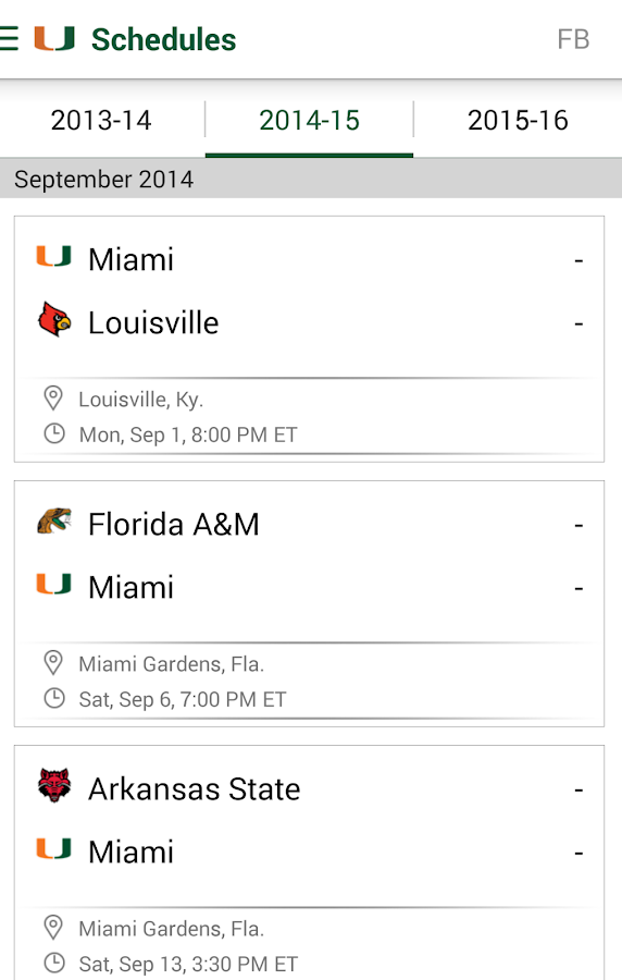 Miami Hurricanes: Free - screenshot
