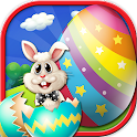 Coloring and painting eggs icon
