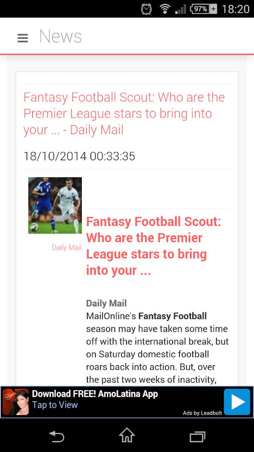 Fantasy Premier League EPL - screenshot