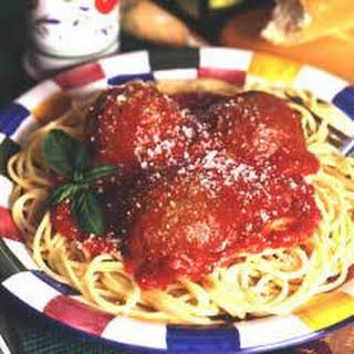 Savory Meatballs & Sauce (8 Servings).