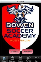 Screenshot of BSA Soccer App