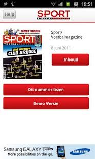 Sport/Voetbalmagazine- screenshot thumbnail