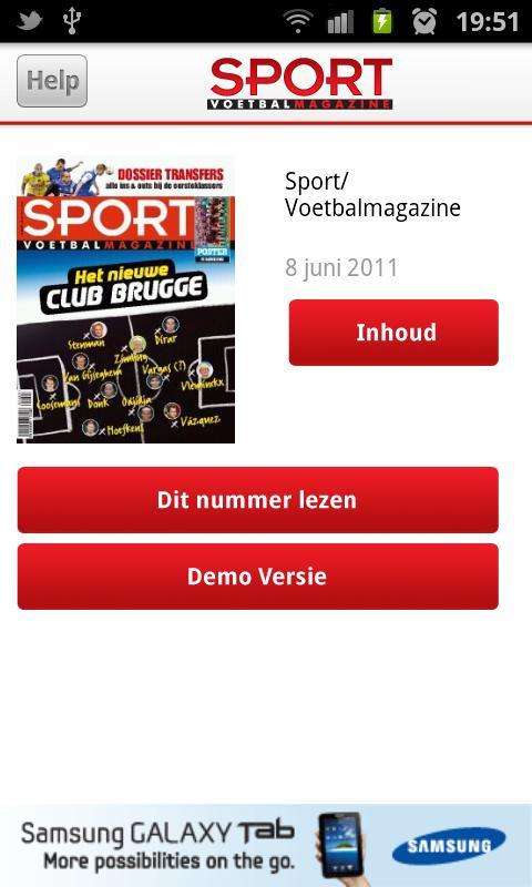 Sport/Voetbalmagazine- screenshot