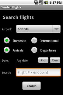 Sweden Flights- screenshot thumbnail