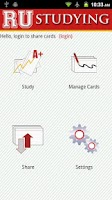 Screenshot of RU Studying Custom Flashcards