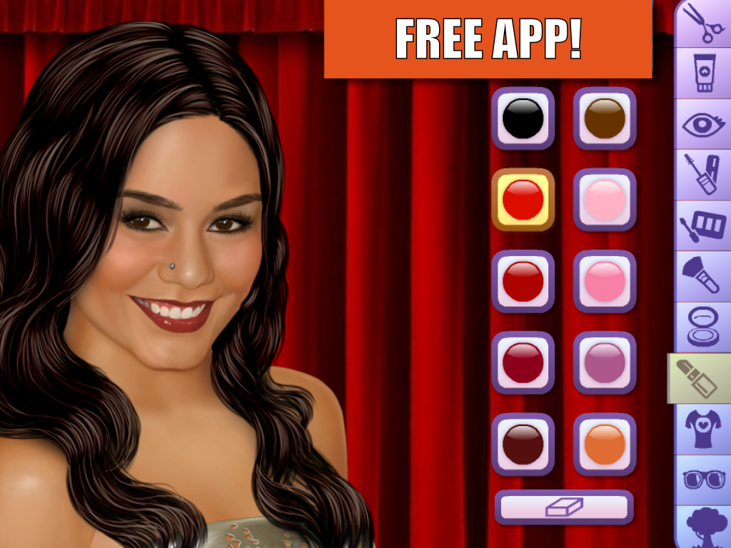 Vanessa Hudgens Make Up Game - screenshot
