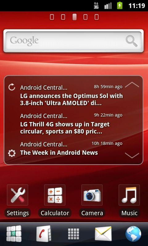GO Launcher EX Theme Xperia - screenshot