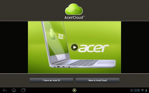 AcerCloud Portal - screenshot thumbnail