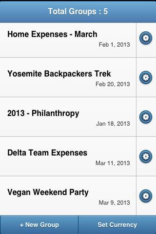 GEM - Group Expense Manager - screenshot