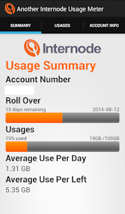 Another Internode Usage Meter- screenshot thumbnail