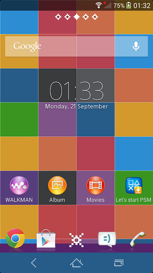 XPERIA™ Color Pixel Theme- screenshot
