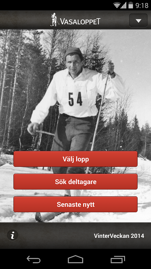 Vasaloppet Vinter 2014 - screenshot
