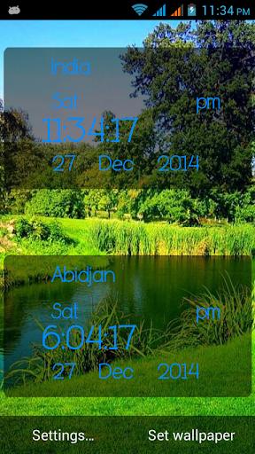 Greenery Digital Clock