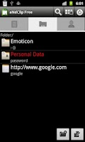 Screenshot of aNdClip Free - Clipboard ext -