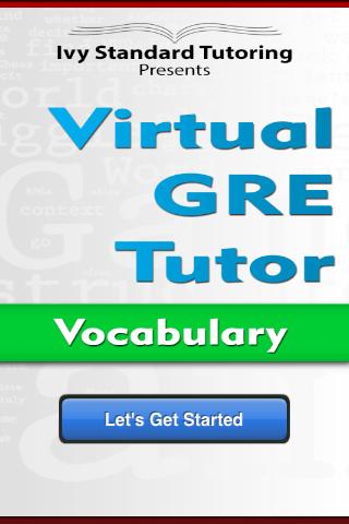 Virtual GRE Tutor - Vocab Full