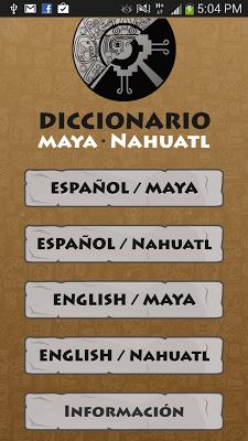 Maya - Nahuatl  Dictionary - screenshot