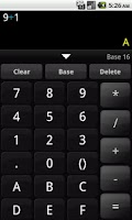 Screenshot of Any Base Calculator