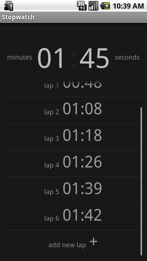Simple Stopwatch Free - screenshot