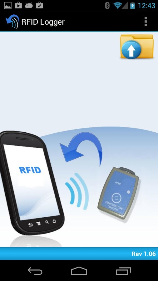 RFID / NFC Logger Application - screenshot