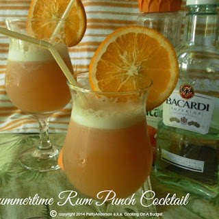Summertime Rum Punch Cocktail.