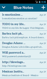 Blue Notes: Minimal Notepad- screenshot thumbnail