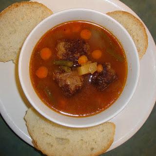 Meme's Meatball Soup.